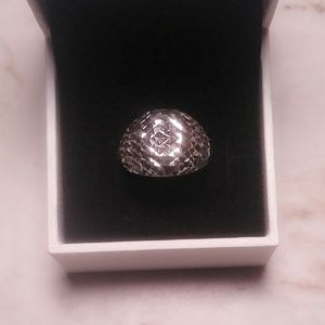 SS diamond cut dome ring.